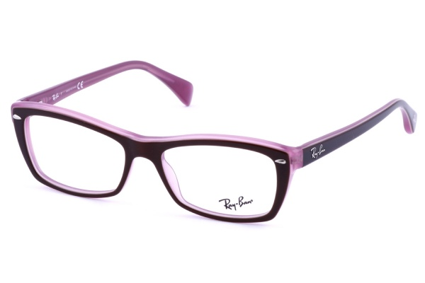 ray bans rx 5255 frames use a traditional vintage black design then pairs it with bold purple highlights for a classic look that stands above the rest